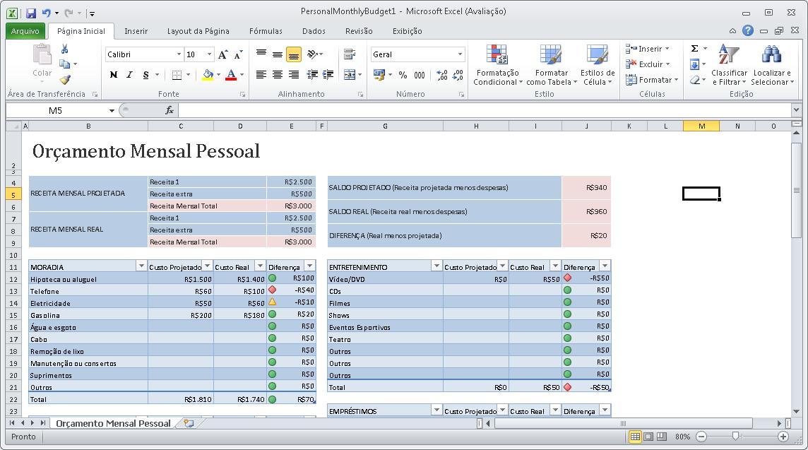 [SCM]actwin,0,0,0,0;Microsoft Excel (Avaliação) - PersonalMonthlyBudget1 EXCEL.EXE 29/07/2010 , 15:41:13